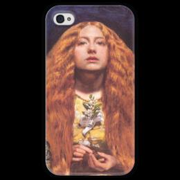 """Чехол для iPhone 4 глянцевый, с полной запечаткой """"Подружка Невесты"""" - картина, милле"""
