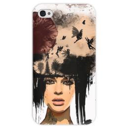 "Чехол для iPhone 4 глянцевый, с полной запечаткой ""Surreal girl"" - арт, girl, фэнтези, сюрреализм"