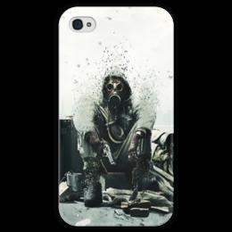 """Чехол для iPhone 4 глянцевый, с полной запечаткой """"Сталкер"""" - игры, компьютер, сталкер, stalker, меченый"""