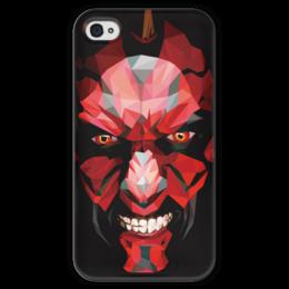 "Чехол для iPhone 4 глянцевый, с полной запечаткой ""Дарт Мол (Darth Maul)"" - star wars, звездные войны, дарт мол, ситхи"