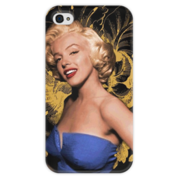 "Чехол для iPhone 4 глянцевый, с полной запечаткой ""Monroe"" - мэрилин монро, marilyn monroe"