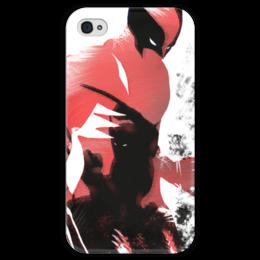 """Чехол для iPhone 4 глянцевый, с полной запечаткой """"Росомаха"""" - росомаха, комиксы, марвел, люди икс, wolverine"""