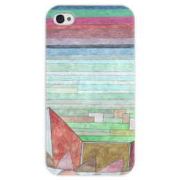 """Чехол для iPhone 4 глянцевый, с полной запечаткой """"Вид на плодородную страну"""" - картина, клее"""