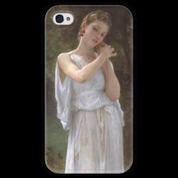 """Чехол для iPhone 4 глянцевый, с полной запечаткой """"Серьги (Boucles d'oreilles)"""" - картина, бугро"""