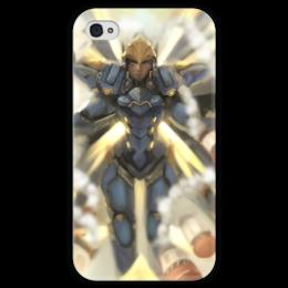 "Чехол для iPhone 4 глянцевый, с полной запечаткой ""Фарра"" - близзард, overwatch, овервотч, pharah, фарра"