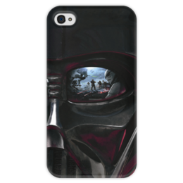 "Чехол для iPhone 4 глянцевый, с полной запечаткой ""Звездные войны"" - звездные войны, кино, дарт вейдер, фантастика, star wars"
