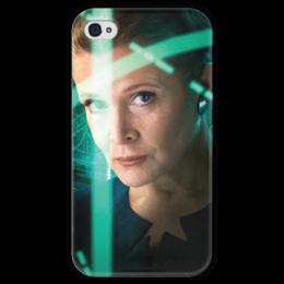 """Чехол для iPhone 4 глянцевый, с полной запечаткой """"Звездные войны - Лея"""" - звездные войны, фантастика, кино, дарт вейдер, star wars"""