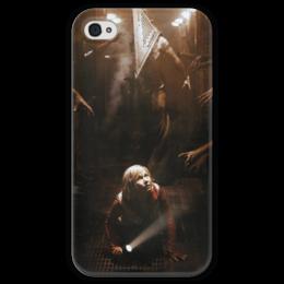 """Чехол для iPhone 4 глянцевый, с полной запечаткой """"Сайлент Хилл"""" - страх, игра, кино, ужасы, silent hill"""