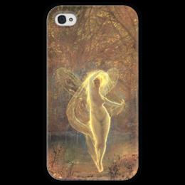 """Чехол для iPhone 4 глянцевый, с полной запечаткой """"Осень (Autumn)"""" - картина, гримшоу"""