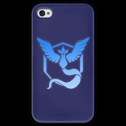 "Чехол для iPhone 4 глянцевый, с полной запечаткой ""Pokemon go: Mystic team"" - pokemon, покемоны, pokemon go, mystic, mystic team"