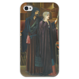 "Чехол для iPhone 4 глянцевый, с полной запечаткой ""Маг (The Wizard)"" - картина, бёрн-джонс"