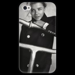 "Чехол для iPhone 4 глянцевый, с полной запечаткой ""Хлоя Морец"" - хлоя морец, chloe moretz"