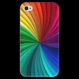 """Чехол для iPhone 4 глянцевый, с полной запечаткой """"Калейдоскоп"""" - узор, рисунок, абстракция, стильный, абстрактный"""