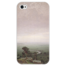 """Чехол для iPhone 4 глянцевый, с полной запечаткой """"Север (картина Архипа Куинджи)"""" - картина, архип куинджи"""