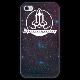 """Чехол для iPhone 4 глянцевый, с полной запечаткой """"My Space"""" - космос, технологии, наука, денис гесс, the spaceway"""