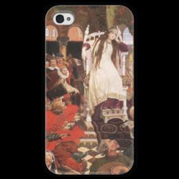 """Чехол для iPhone 4 глянцевый, с полной запечаткой """"Царевна-Несмеяна"""" - картина, васнецов"""