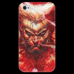 "Чехол для iPhone 4 глянцевый, с полной запечаткой ""Superheroes: wolverine"" - супергерои, marvel, марвел, x-men, wolverine"