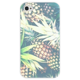 """Чехол для iPhone 4 глянцевый, с полной запечаткой """"Ананас"""" - арт, summer, ананас, swag, pineapple"""