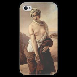 """Чехол для iPhone 4 глянцевый, с полной запечаткой """"Руфь (Франческо Айец)"""" - картина, айец"""