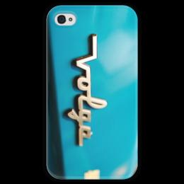 """Чехол для iPhone 4 глянцевый, с полной запечаткой """"Волга """" - ссср, авто, волга, бояре"""