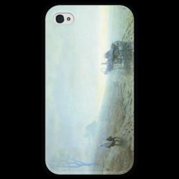 """Чехол для iPhone 4 глянцевый, с полной запечаткой """"Осенняя распутица (картина Архипа Куинджи)"""" - картина, архип куинджи"""