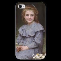 """Чехол для iPhone 4 глянцевый, с полной запечаткой """"Маргаритки (Pâquerettes)"""" - картина, бугро"""