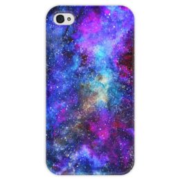 """Чехол для iPhone 4 глянцевый, с полной запечаткой """"Вселенная"""" - космос, галактики, космический, space, galaxy"""