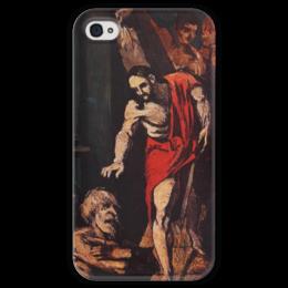 "Чехол для iPhone 4 глянцевый, с полной запечаткой ""Christ in Limbo"" - картина, сезанн"