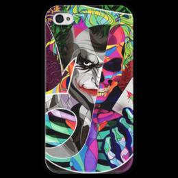 """Чехол для iPhone 4 глянцевый, с полной запечаткой """"Джокер"""" - джокер, комиксы, batman, joker, бэтмен"""