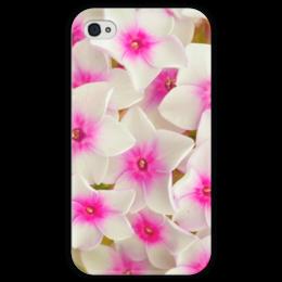 """Чехол для iPhone 4 глянцевый, с полной запечаткой """"цветы"""" - n-a-v"""