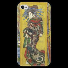 "Чехол для iPhone 4 глянцевый, с полной запечаткой ""Куртизанка (Courtesan (after Eisen))"" - картина, ван гог"