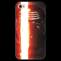 """Чехол для iPhone 4 глянцевый, с полной запечаткой """"Звездные войны - Кайло Рен"""" - звездные войны, кино, фантастика, дарт вейдер, star wars"""