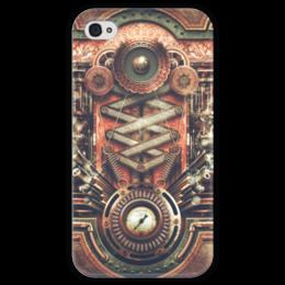 """Чехол для iPhone 4 глянцевый, с полной запечаткой """"Стимпанк, Материнская Плата"""" - steampunk, стимпанк, материнская плата, компьюетр"""