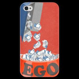 "Чехол для iPhone 4 глянцевый, с полной запечаткой ""Лайки"" - иллюстрация, фэйсбук, эго, ego, likes"