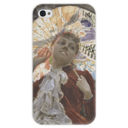 """Чехол для iPhone 4 глянцевый, с полной запечаткой """"Castles in the Air"""" - картина, цорн"""