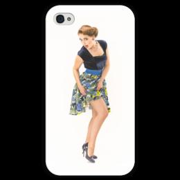 """Чехол для iPhone 4 глянцевый, с полной запечаткой """"PinUp """" - пинап, pin-up"""