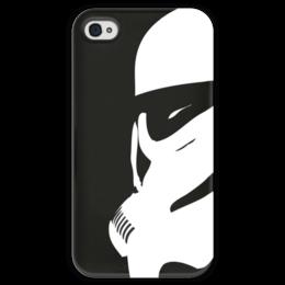 """Чехол для iPhone 4 глянцевый, с полной запечаткой """"Штурмовик"""" - star wars, звездные войны, stormtrooper, дарт вейдер, стар варс"""