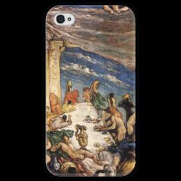 """Чехол для iPhone 4 глянцевый, с полной запечаткой """"Оргия"""" - картина, сезанн"""