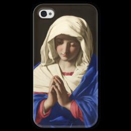 """Чехол для iPhone 4 глянцевый, с полной запечаткой """"Дева Мария"""" - картина, сальви"""