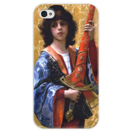 "Чехол для iPhone 4 глянцевый, с полной запечаткой ""Паж (картина Кабанеля)"" - картина, кабанеля"