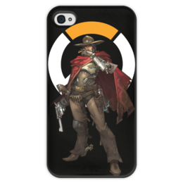 """Чехол для iPhone 4 глянцевый, с полной запечаткой """"McCree Overwatch / МАККРИ Овервотч"""" - игры, overwatch, mccree, овервотч, маккри"""