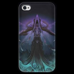 """Чехол для iPhone 4 глянцевый, с полной запечаткой """"WarCraft Collection"""" - wow, warcraft, world of warcraft, варкрафт, нежить"""