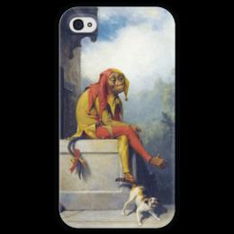 "Чехол для iPhone 4 глянцевый, с полной запечаткой ""For What Was I Created?"" - картина, берд"