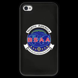 """Чехол для iPhone 4 глянцевый, с полной запечаткой """"Resident Evil. BSAA"""" - resident evil, umbrella, re, bsaa"""