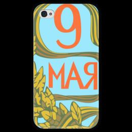 """Чехол для iPhone 4 глянцевый, с полной запечаткой """"Без названия"""" - ссср, плакат, вов"""