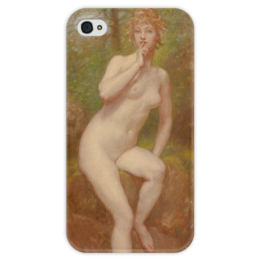 "Чехол для iPhone 4 глянцевый, с полной запечаткой ""The Stream's Secret"" - картина, кокс"