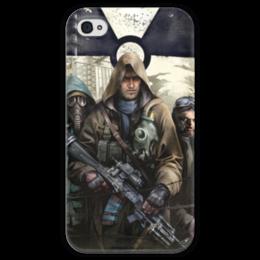 """Чехол для iPhone 4 глянцевый, с полной запечаткой """"S.T.A.L.K.E.R. Чистое небо"""" - игра, сталкер, фанат, stalker, чистое небо"""