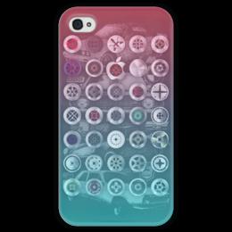 """Чехол для iPhone 4 глянцевый, с полной запечаткой """"Old school 2"""" - олдскул, old school, bmw, camaro"""