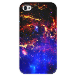 """Чехол для iPhone 4 глянцевый, с полной запечаткой """"Великий Космос"""" - космос, наука, прогресс, денис гесс, the spaceway"""