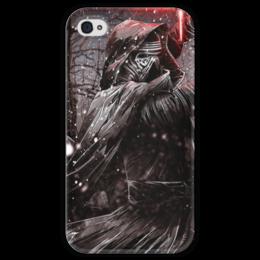"""Чехол для iPhone 4 глянцевый, с полной запечаткой """"Кайло Рен (Kylo Ren)"""" - star wars, звездные войны, дарт вейдер, стар варс, бен соло"""